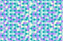 Geometrischer Hintergrund in der Hippie-Art vektor abbildung
