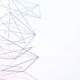 Geometrischer Hintergrund der modernen Wissenschaft mit Verbindungslinien lizenzfreie abbildung