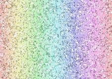 Geometrischer Hintergrund der Regenbogendreiecke Stockfotografie