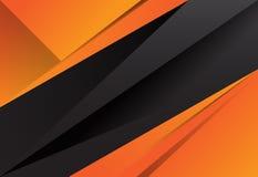 Geometrischer Hintergrund der schwarzen und orange abstrakten Schicht lizenzfreie abbildung