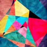 Geometrischer Hintergrund des abstrakten Aquarells Stockbild