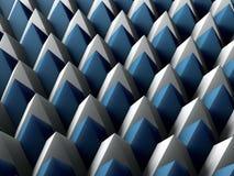 Geometrischer Hintergrund des abstrakten blauen Dreiecks Lizenzfreies Stockbild