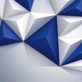 Geometrischer Hintergrund des blauen und weißen Vektors. Stockbilder