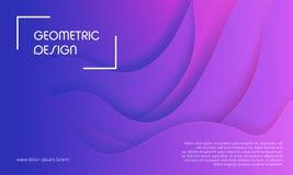 Geometrischer Hintergrund Dynamische Formzusammensetzung Lizenzfreie Stockbilder