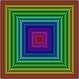 Geometrischer Hintergrund in Form von farbigen Quadraten stock abbildung
