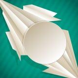 Geometrischer Hintergrund mit Dreiecken und Rahmen ? Lizenzfreie Stockbilder