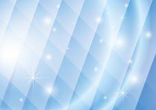 Geometrischer Hintergrund mit Leuchten und Sternen Stockbild