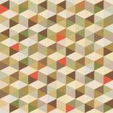 Geometrischer Hintergrund - nahtloses Muster in den Weinlese-Farben Stockbild