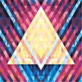 Geometrischer Hintergrund-nahtloses Vektor-Muster 02 Stockbilder