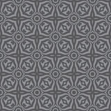 Geometrischer Hintergrund - nahtloses Vektormuster in den grauen Farben Dekoratives Tapetenmuster Lizenzfreies Stockfoto