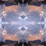Geometrischer Hintergrund von dreieckigen Polygonen Abstrakter polygonaler symmetrischer Hintergrund des Vektors Stockbilder