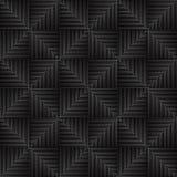 Geometrischer Hintergrund von schwarzen Dreiecken Das Muster von Dreiecken Abstraktes geometrisches Muster von Linien mit nachläs Stockfotografie
