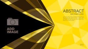 Geometrischer Hintergrundvektor, polygonale Grafik, minimale Beschaffenheit, Abdeckungsentwurf, Fliegerschablone, Fahne, Webseite stock abbildung