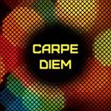 Geometrischer Hippie-Hintergrund mit Platz für Text. Stockfotografie