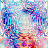 Geometrischer Kreishintergrund des abstrakten Aquarells Lizenzfreies Stockfoto