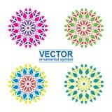 Geometrischer Logoschablonensatz Stockbilder