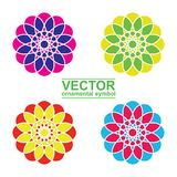 Geometrischer Logoschablonensatz Lizenzfreies Stockfoto