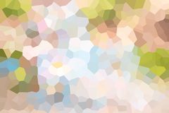 Geometrischer Mosaikmehrfarbenhintergrund, Illustrationskunst-Entwurfshintergrund vektor abbildung