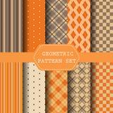 Geometrischer Mustersatz, Herbstkonzept Lizenzfreie Stockfotos