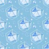 Geometrischer nahtloser Hintergrund stock abbildung