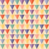 Geometrischer nahtloser Hintergrund des abstrakten Dreiecks Stockbilder