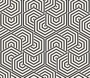 Geometrischer nahtloser Muster-Vektor Stockfoto