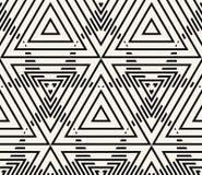 Geometrischer nahtloser Muster-Vektor Lizenzfreie Stockbilder