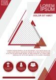 Geometrischer Plan der Broschüre Lizenzfreies Stockfoto