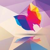 Geometrischer polygonaler Schmetterling, Musterdesign Stockfotografie