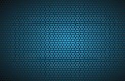 Geometrischer Polygonhintergrund, abstrakte blaue metallische Tapete Lizenzfreies Stockbild