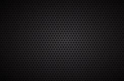 Geometrischer Polygonhintergrund, abstrakte schwarze metallische Tapete Lizenzfreies Stockbild