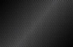 Geometrischer Polygonhintergrund, abstrakte schwarze metallische Tapete Stockbild