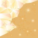 Geometrischer Polygonhintergrund mit Blumen Lizenzfreies Stockfoto