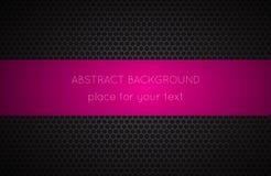 Geometrischer Polygonhintergrund mit rosa Platz für Ihren Text stock abbildung