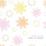 Geometrischer Rahmen der abstrakten Textil-colroful Sonnen Lizenzfreies Stockbild