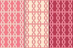 Geometrischer Satz des Kirschrotes nahtlose Muster Stockfoto