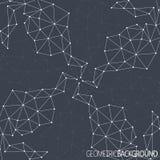 Geometrischer schwarzer Hintergrund Molekül und Stockbilder