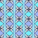 Geometrischer stilvoller Hintergrund der nahtlosen antiken Musterverzierung Stockbild