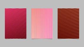 Geometrischer Streifensatz - Steigungszusammenfassungsvektor-Broschürenschablonen vektor abbildung