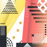 Geometrischer Symbolhintergrund Memphis für Mode lizenzfreie abbildung