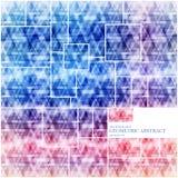 Geometrischer technologischer quadratischer abstrakter Hintergrundvektor Lizenzfreies Stockfoto