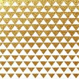 Geometrischer Vektorhintergrund des abstrakten Goldfunkelns Stockfotos