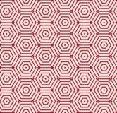 Geometrischer Vektorhintergrund des roten Musters Stockbild