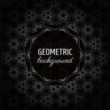 Geometrischer weißer Hintergrund des Vektorhintergrundes (Schwarzes, Graues und) Lizenzfreie Stockfotografie