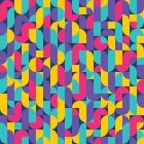 Geometrischer Weinlese-Hintergrund 07 Stockbild