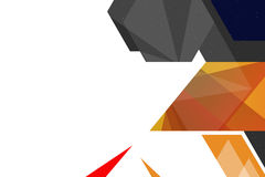 geometrischer Zusammenfassungshintergrund der rechten Seite der Form 3d Stockfotos