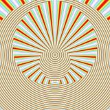 Geometrisches abstraktes backgound in den orange Farben Lizenzfreies Stockfoto