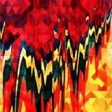 Geometrisches abstraktes Farbmuster in der Graffitiart Qualitätsvektorillustration für Ihr Design Lizenzfreies Stockfoto