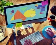 Geometrisches abstraktes Mosaik-Gestaltungselement-Form-Konzept Stockfotos