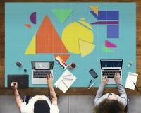 Geometrisches abstraktes Mosaik-Gestaltungselement-Form-Konzept Lizenzfreie Stockbilder